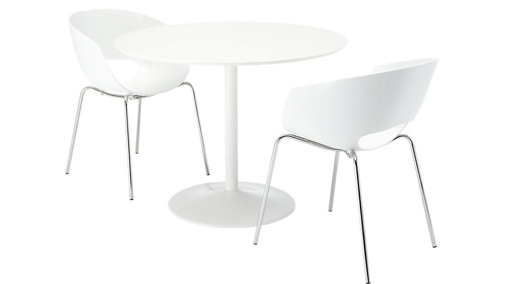 orbit white arm chair