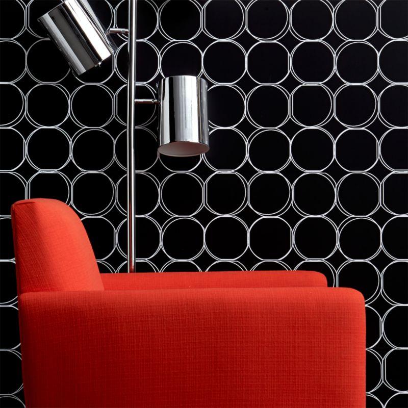 orbit large black self-adhesive wallpaper