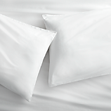 organic white percale king pillowcases set of 2