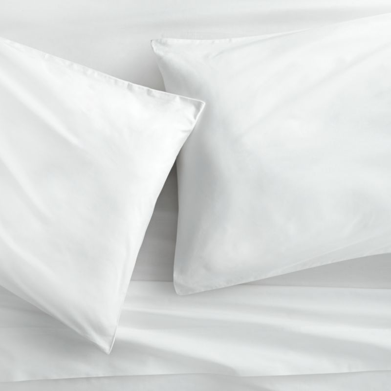 organic white percale king sheet set