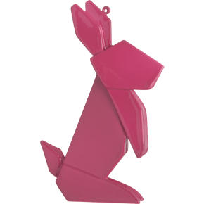 origami bunny ornament