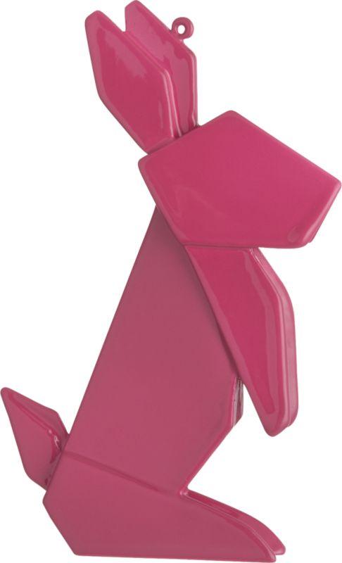 origami bunny ornament