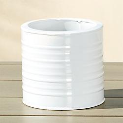 oscar hi-gloss white herb planter