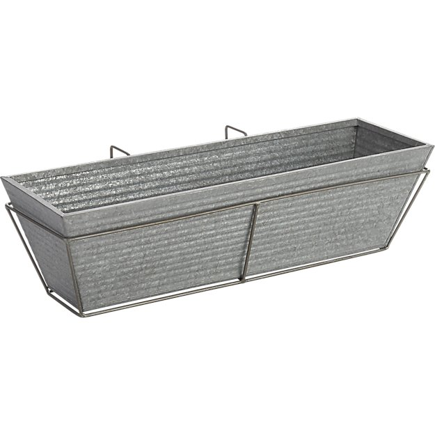 oscar rectangular rail planter and frame