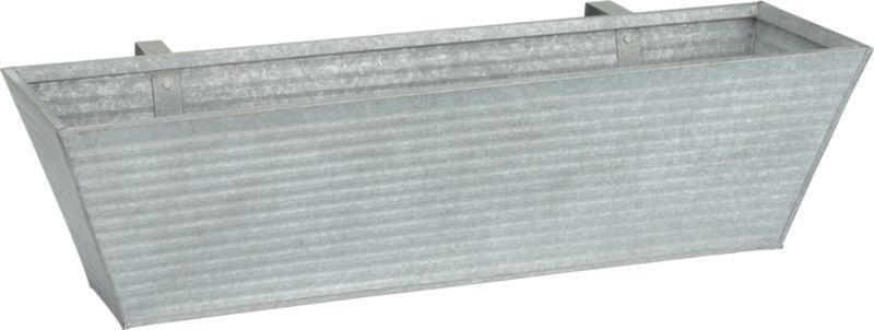 oscar rectangular metal rail planter