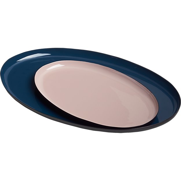 enamel oval trays