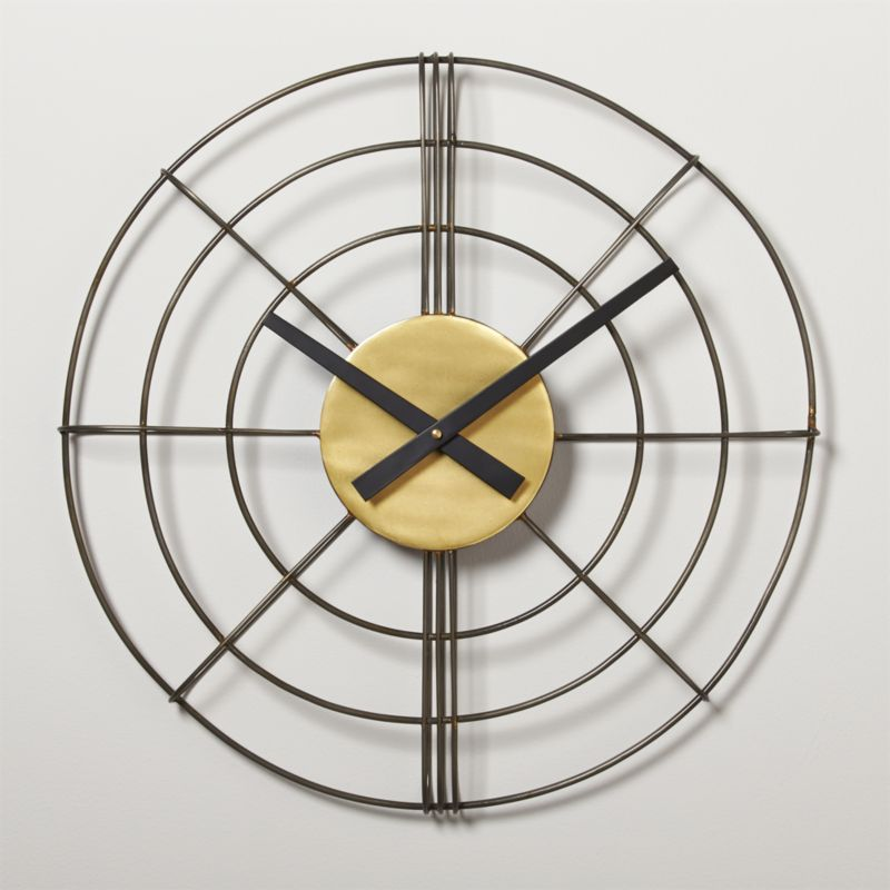 "overlook wire 20"" wall clock"