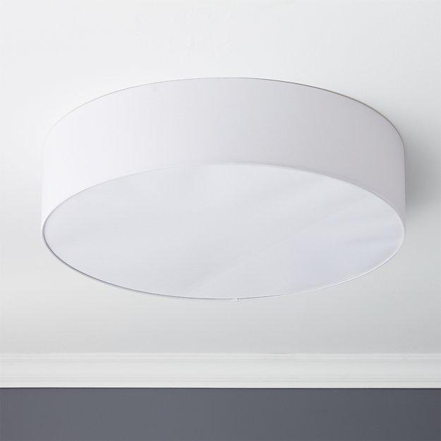 oversized drum flush mount lamp