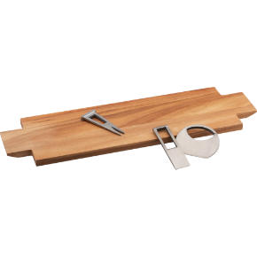 4-piece paddle wood cheese server gift set