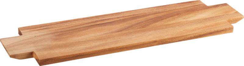 paddle wood cheese server
