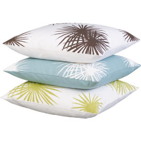 palm leaf pillows shopping in CB2 pillows