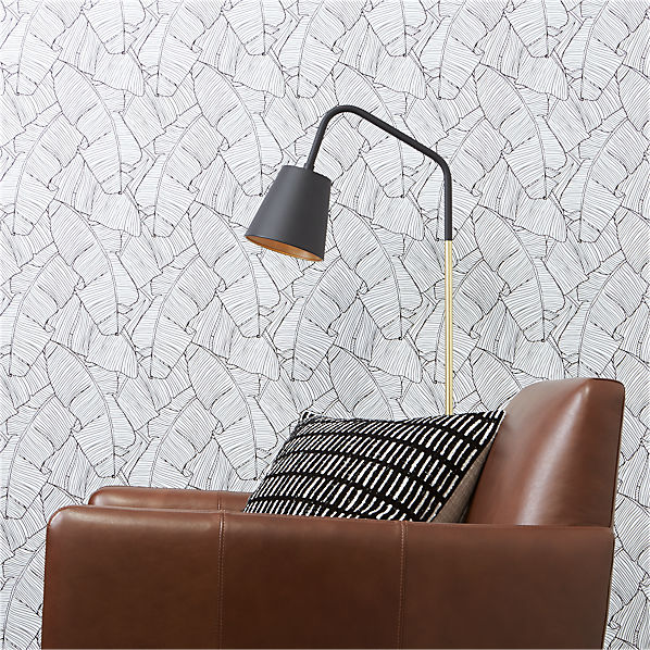 Palm Black And White Self Adhesive Wallpaper