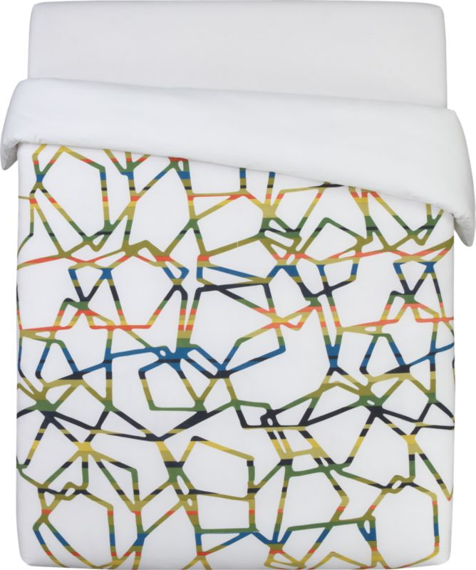 paperclip full/queen duvet cover