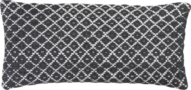 """paragon 23""""x11"""" hand woven pillow with down-alternative insert"""
