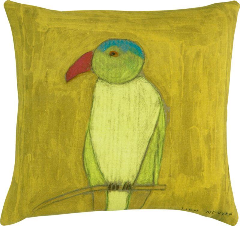 """parrot 18"""" pillow"""