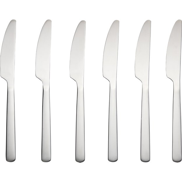 set of 6 party knives