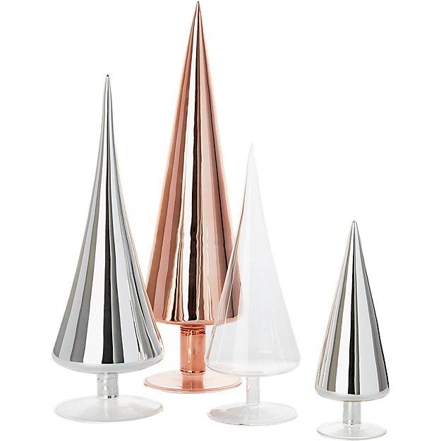 4-piece metallic and clear paz tree set