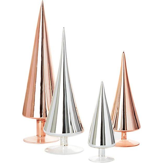 4-piece metallic paz tree set