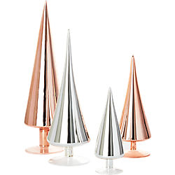 4-piece metallic paz tree set
