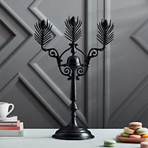 peacock black candelabra