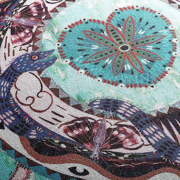 PeacockHeartsPillow18x18AV2F16