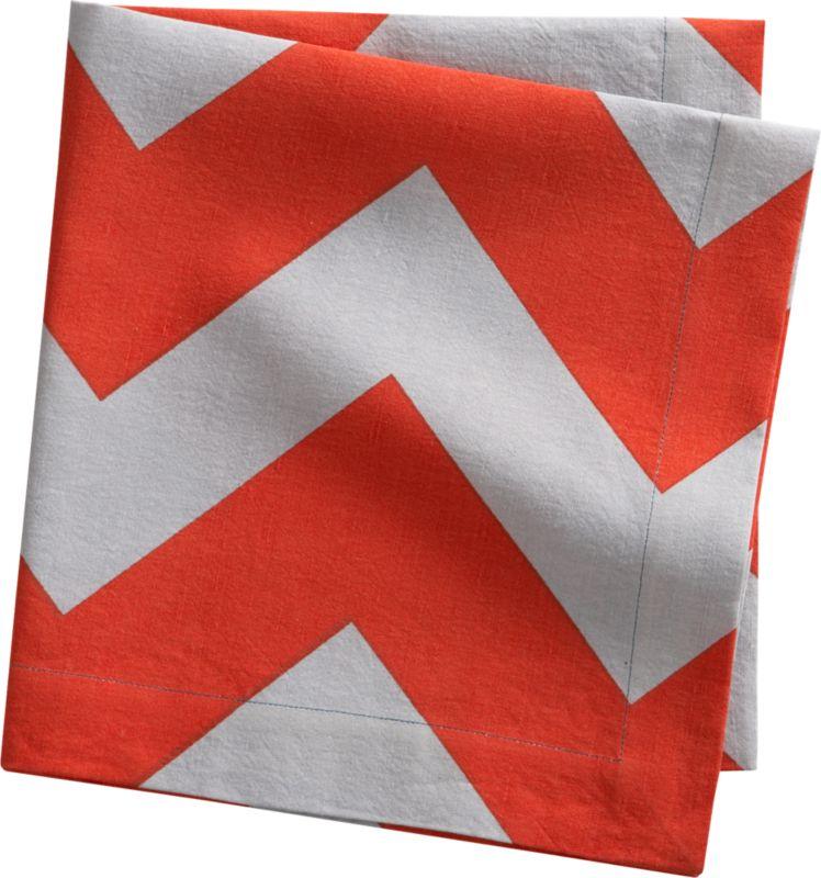 peaks red-orange napkin