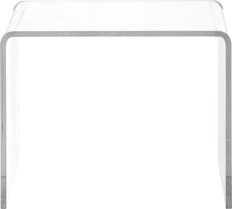 peekaboo clear low side table