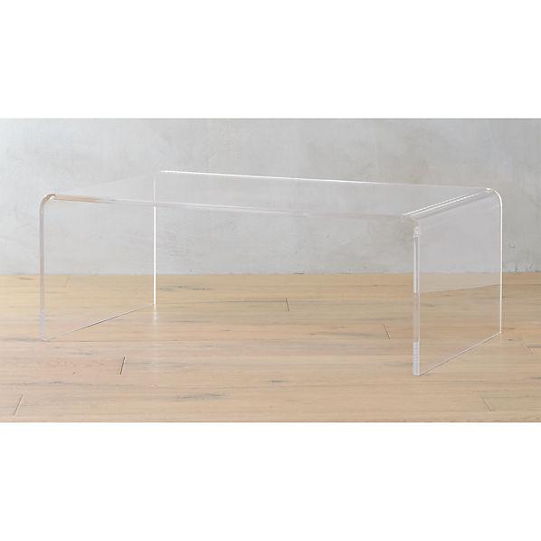 Peekaboo Clear Coffee Table