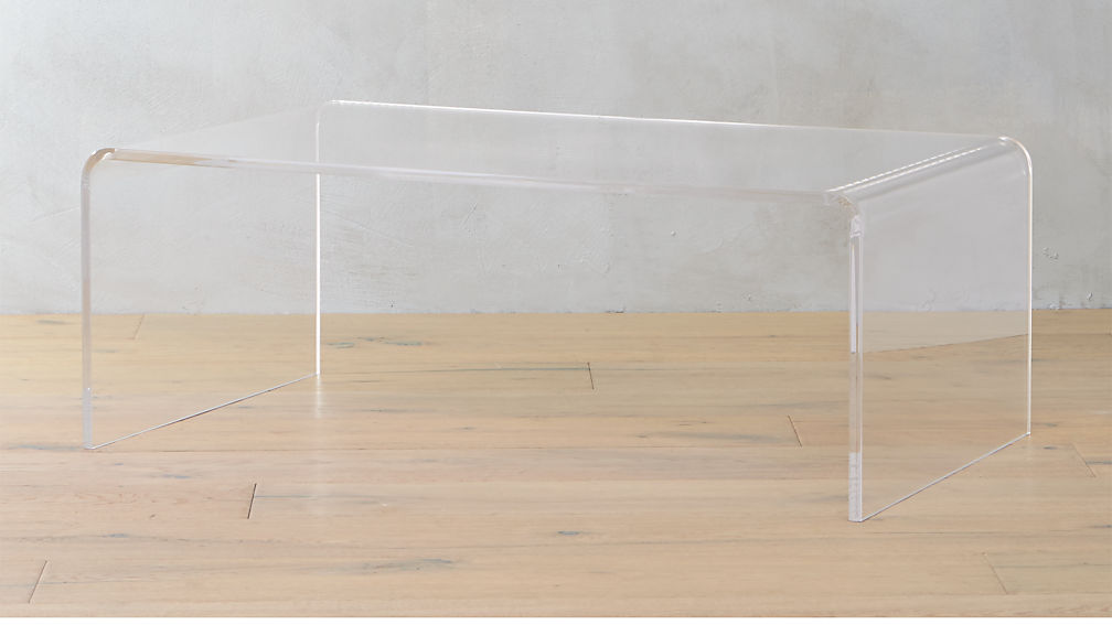 peekaboo acrylic coffee table
