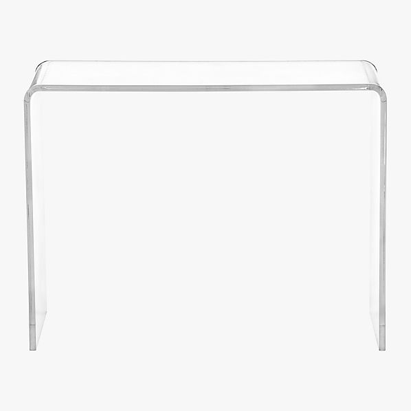 peekaboo acrylic console table cb2. Black Bedroom Furniture Sets. Home Design Ideas