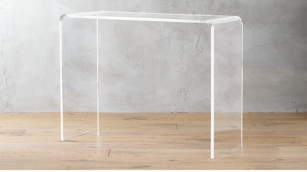 peekaboo acrylic console table