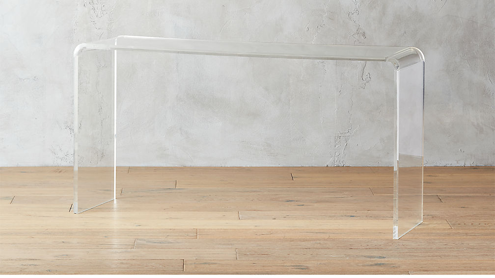 "peekaboo 56"" acrylic console table"