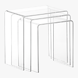 peekaboo acrylic nesting tables set of three