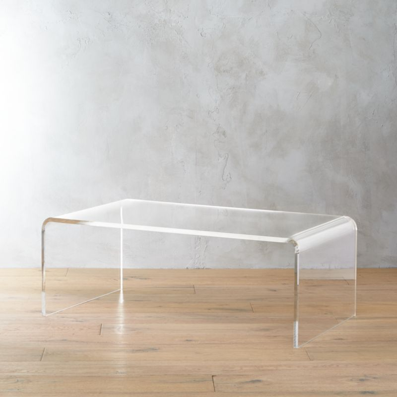 peekaboo acrylic tall coffee table  CB2