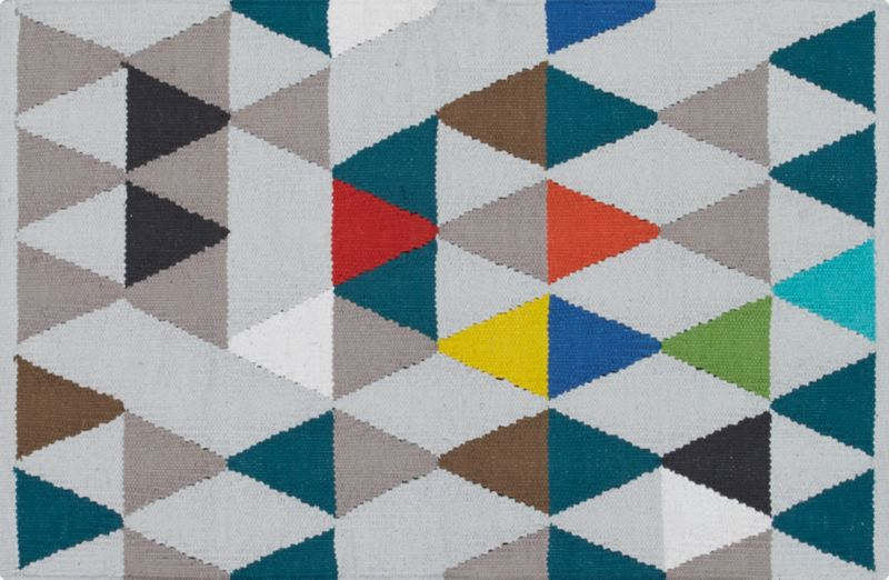 pembetatu cotton dhurrie rug 2'x3'