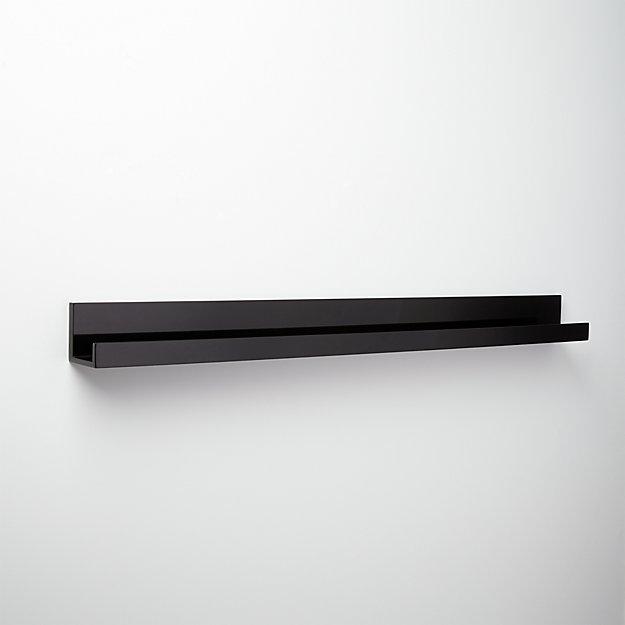 """piano black wall shelf 48"""""""