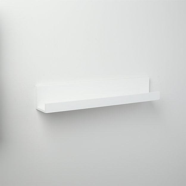 piano white wall shelf 24""