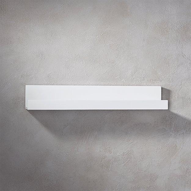 "piano white wall shelf 24"""