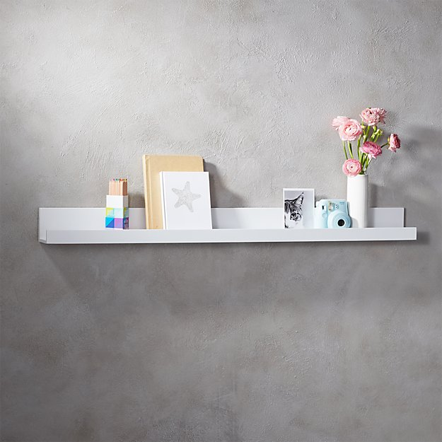piano white wall shelf 48""