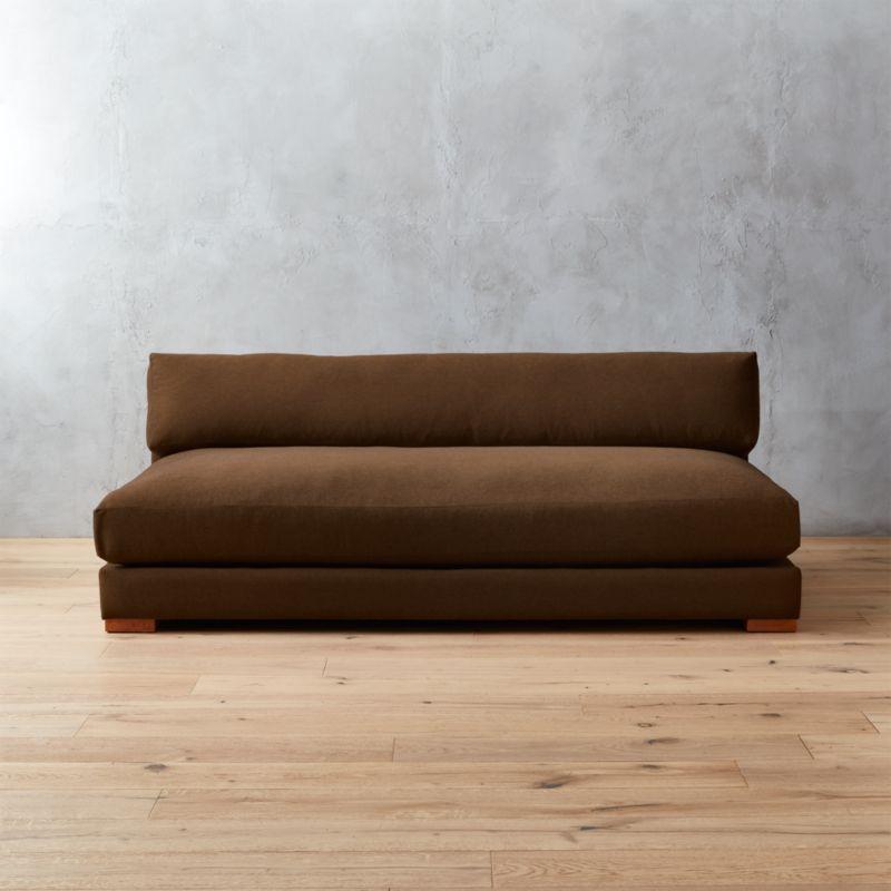 piazza sofa Ellyn: Chestnut : CB2