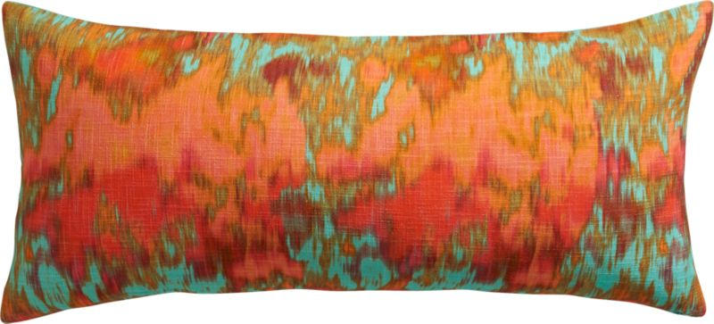 """pigments aqua 36""""x16"""" pillow with feather-down insert"""