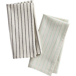 pinstripe napkins