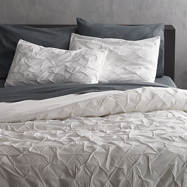 Melyssa White King Duvet Cover Cb2