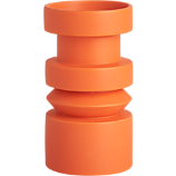 piston orange candle holder