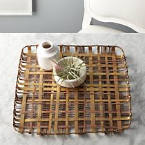 plaid metal tray