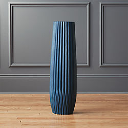 pleat teal vase