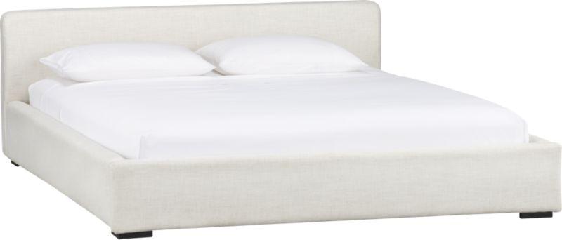 plush natural king bed