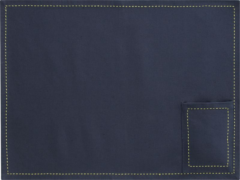 pocket blue placemat