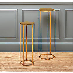 polygon pedestal tables