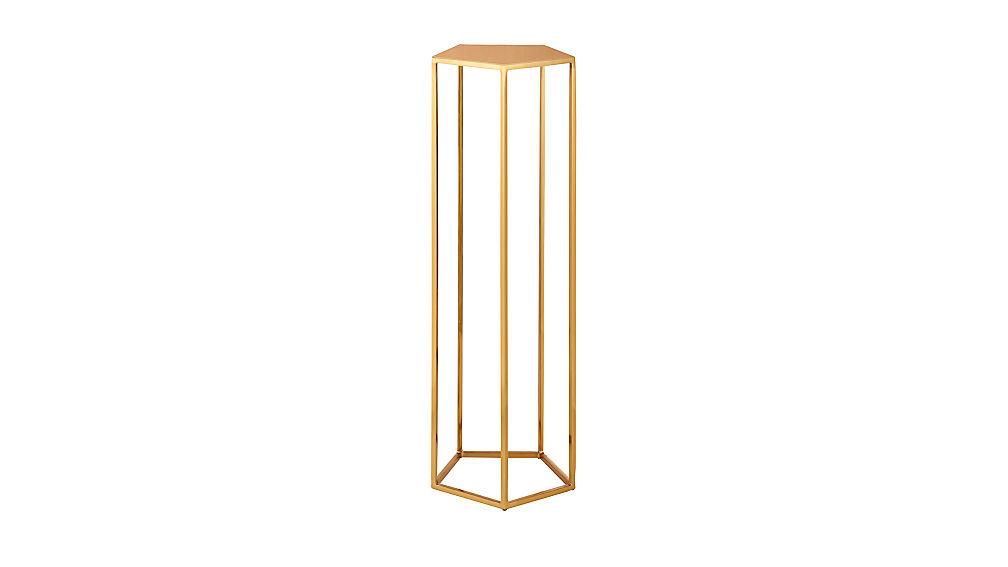 polygon tall pedestal table